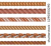realistic seamless rope and... | Shutterstock .eps vector #1290353290