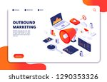 outbound marketing. seo pr roi... | Shutterstock .eps vector #1290353326