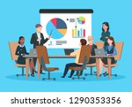 business meeting. flat people... | Shutterstock .eps vector #1290353356