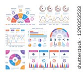 infographic template. dashboard ... | Shutterstock .eps vector #1290353533