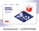 drone logistics isometric... | Shutterstock .eps vector #1290353560