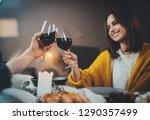romantic dinner  beautiful...   Shutterstock . vector #1290357499
