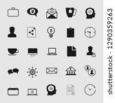 vector business office icons...   Shutterstock .eps vector #1290359263