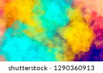 abstract colorful watercolor... | Shutterstock . vector #1290360913