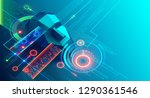 artificial intelligence... | Shutterstock . vector #1290361546