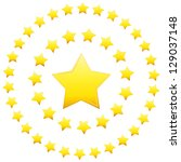 an image of stars in a circular ... | Shutterstock . vector #129037148