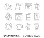 coffee time icon. tea and hot... | Shutterstock .eps vector #1290374623