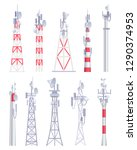 communication tower. cellular... | Shutterstock .eps vector #1290374953