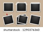 pack of square realistic frame... | Shutterstock .eps vector #1290376360