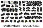 mega pack of realistic vector...   Shutterstock .eps vector #1290376363