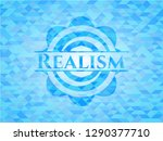 realism light blue mosaic emblem | Shutterstock .eps vector #1290377710