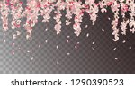 vector floral background with... | Shutterstock .eps vector #1290390523