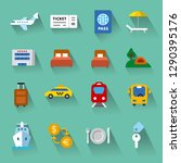 set of travel concept flat... | Shutterstock .eps vector #1290395176