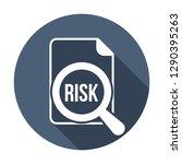 risk word magnifying glass.... | Shutterstock .eps vector #1290395263