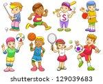 illustration of children... | Shutterstock .eps vector #129039683