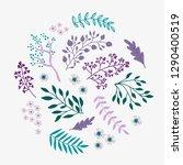 spring floral elements  floral... | Shutterstock .eps vector #1290400519