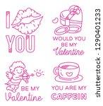 valentines greeting badge in...   Shutterstock .eps vector #1290401233