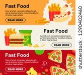 fast food horizontal banner for ...   Shutterstock .eps vector #1290402460