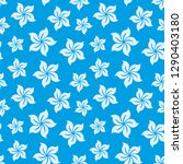 pattern with flowers on blue... | Shutterstock .eps vector #1290403180