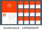 wall calendar planner template... | Shutterstock .eps vector #1290403639