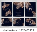 wedding monogram tropical palm...   Shutterstock .eps vector #1290409999