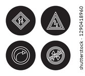 4 linear vector icon set   road ... | Shutterstock .eps vector #1290418960