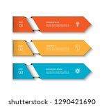 infographic template with 3... | Shutterstock .eps vector #1290421690