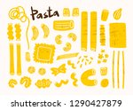 Various Types Of Pasta. Hand...