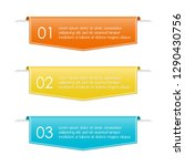 infographic ribbon banner with... | Shutterstock .eps vector #1290430756