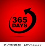 three hundred and sixty five... | Shutterstock .eps vector #1290431119