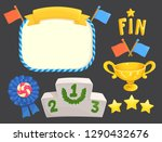 game rating icons with stars... | Shutterstock .eps vector #1290432676