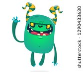 cartoon angry zombie monster... | Shutterstock .eps vector #1290433630