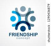 teamwork businessman unity and... | Shutterstock .eps vector #1290436879