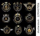 collection of vector heraldic...   Shutterstock .eps vector #1290437056