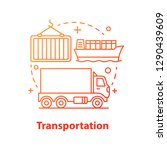 transportation concept icon.... | Shutterstock .eps vector #1290439609