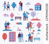 vector illustration in flat... | Shutterstock .eps vector #1290440230