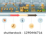 warehouse packing and dispatch... | Shutterstock .eps vector #1290446716