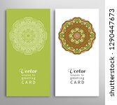 cards or invitations set with... | Shutterstock .eps vector #1290447673