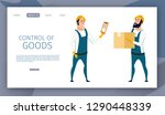 warehouse male worker control...   Shutterstock .eps vector #1290448339