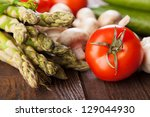 Fresh Vegetables On A Wooden...