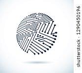 vector abstract computer... | Shutterstock .eps vector #1290450196