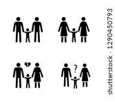 child custody glyph icons set.... | Shutterstock .eps vector #1290450793