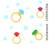 rings with gemstones. seamless... | Shutterstock .eps vector #1290451336