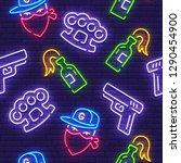 gangster pattern  bright... | Shutterstock .eps vector #1290454900