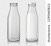 realistic transparent empty and ... | Shutterstock .eps vector #1290460813