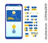 carpool app interface vector...