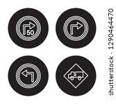4 linear vector icon set   turn ... | Shutterstock .eps vector #1290464470