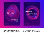 dj event. abstract discotheque... | Shutterstock .eps vector #1290469123