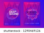 trance party. dynamic gradient... | Shutterstock .eps vector #1290469126