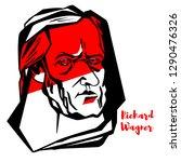 richard wagner engraved vector... | Shutterstock .eps vector #1290476326